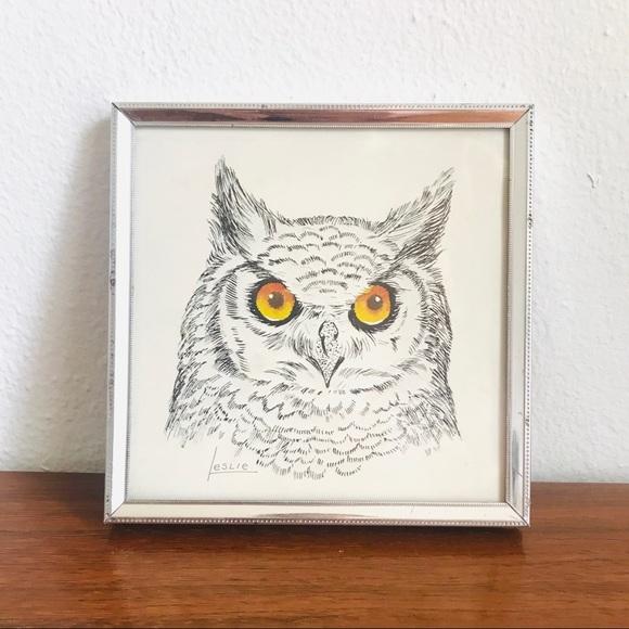 Vintage Other - Vintage stapco ny litho owl art